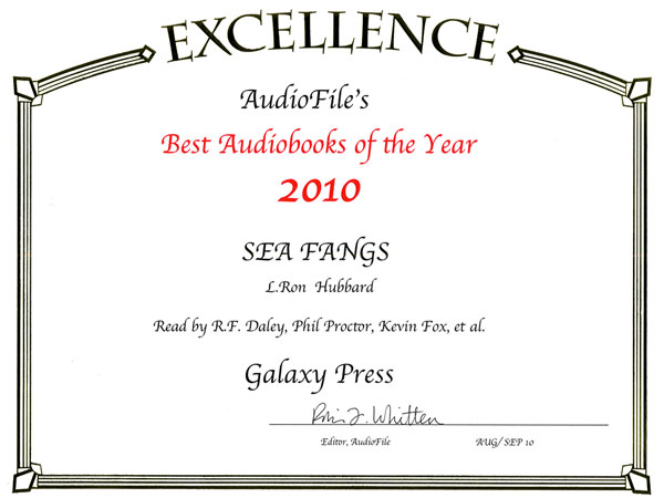Sea Fangs Audiobook of the Year 2010