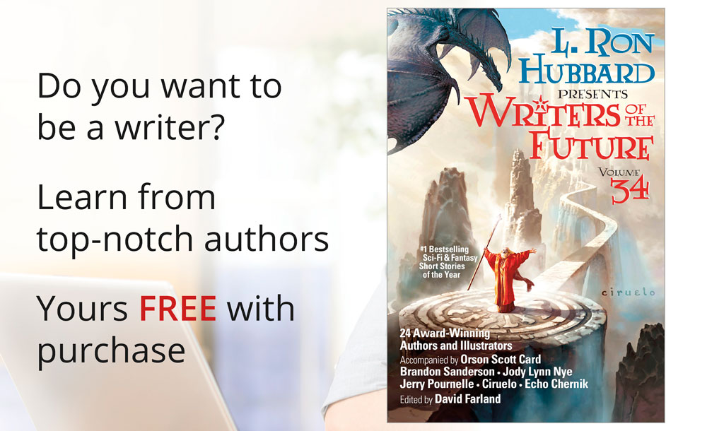 Yours free with purchase of Writers of the Future Vol 34