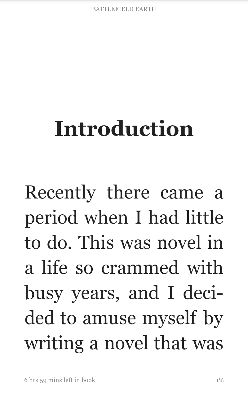 Kindle with large font