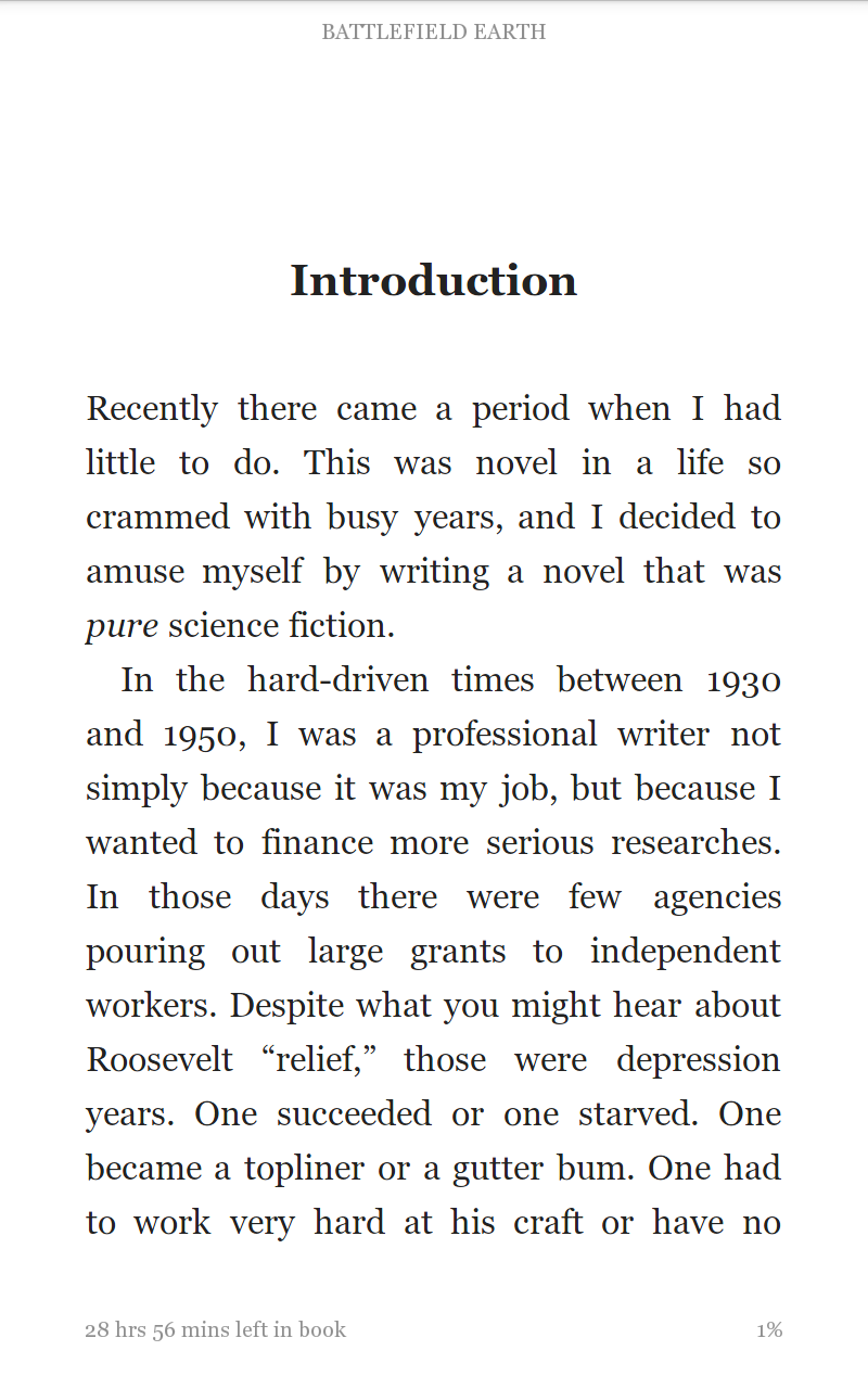 Kindle with small font