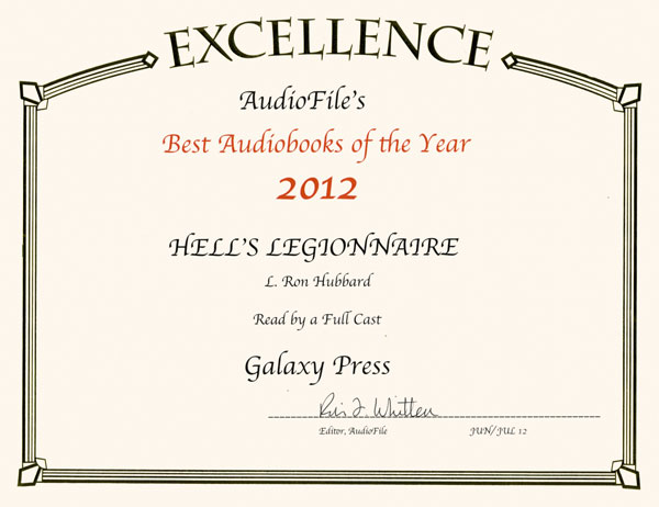 2012 AudioFile Best Audiobooks of Year award for Hell's Legionnaire