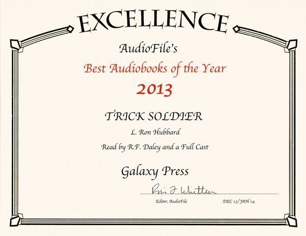 2013 AudioFile Best Audiobooks of Year award for Trick Soldier