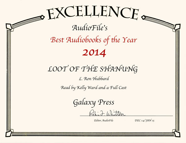2014 AudioFile Best Audiobooks of Year award for Loot of the Shanung