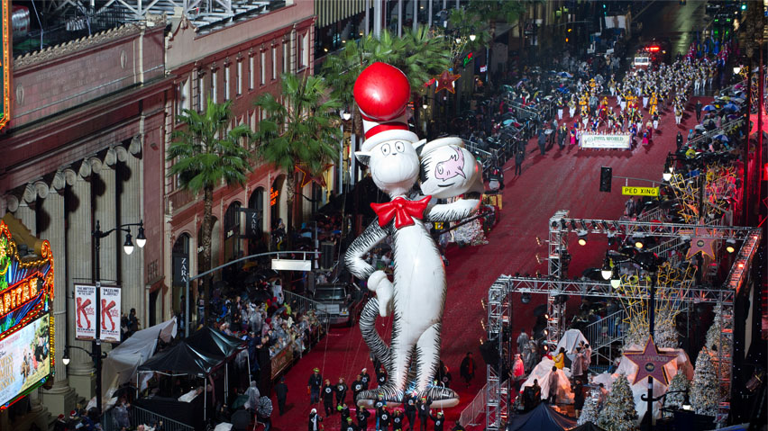Cat in the Hat at the Hollywood Christmas Parade