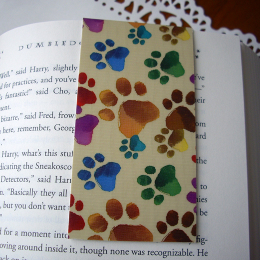 Dog paw bookmark from PointingDogPaper on Etsy.com