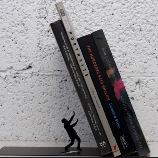 Falling Books Bookend from GadgetFlow.com