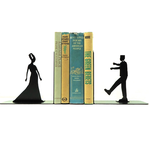 Frankenstein and Bride bookends from KnobCreekMetalArts on Etsy.com