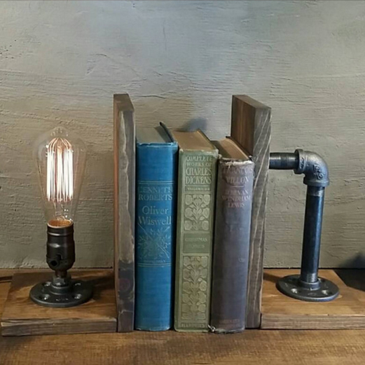 Steampunk bookends from Urban Industrial Craft