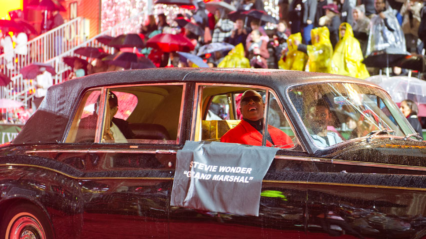 Grand Marshal Stevie Wonder in the Hollywood Christmas Parade