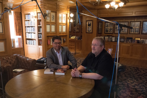 Joe Davis from Park City TV interviewing Orson Scott Card at Author Services, Inc