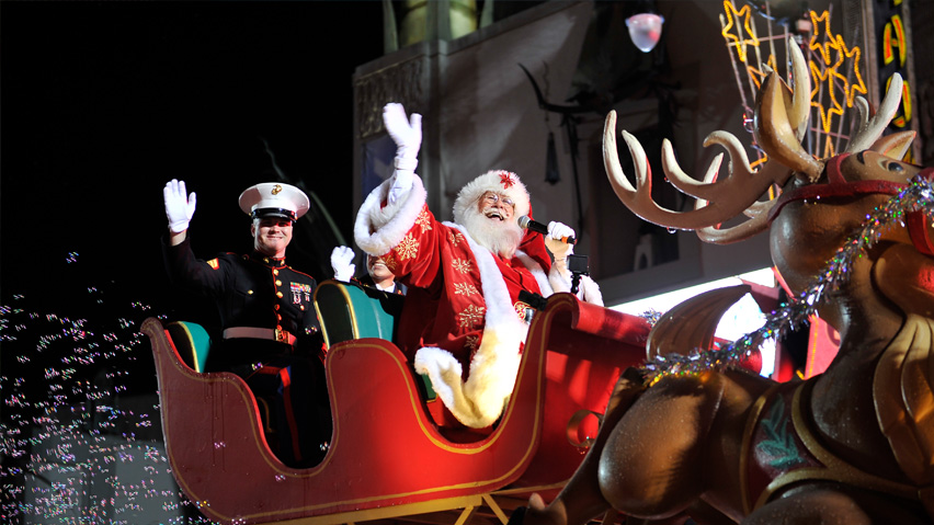 Santa Claus in the Hollywood Christmas Parade