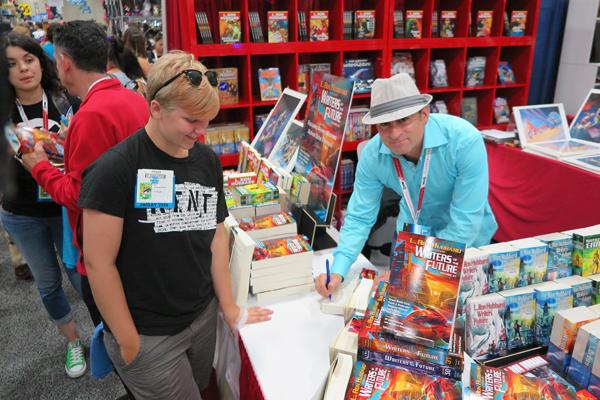Steve Pantazis autographing books