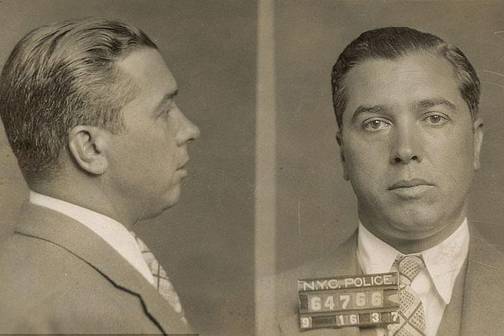 Mugshot of Mafioso Joe Adonis (1937), courtesy of the Eugene Canevari collection