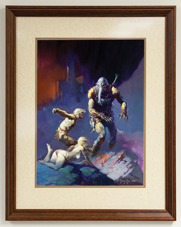 """Man, the Endangered Species"" by Frank Frazetta"