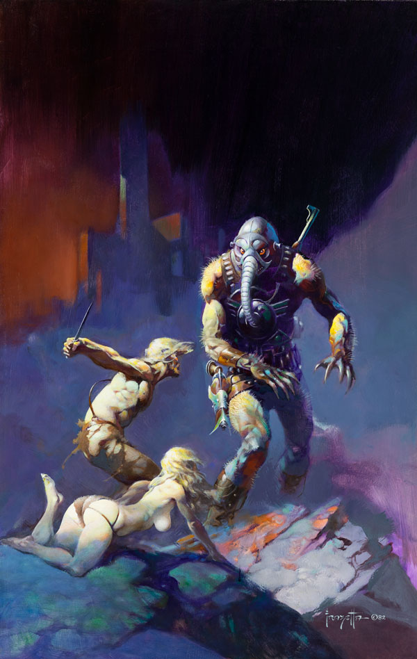 """Man, the Endangered Species"" by Frank Frazetta"