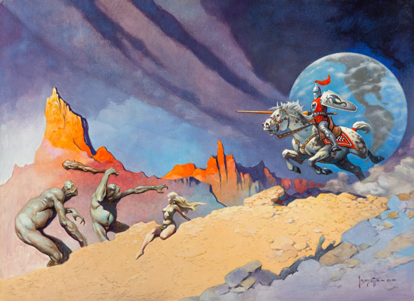 """Moonrider"" by Frank Frazetta"
