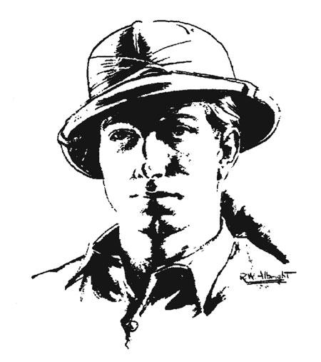 L. Ron Hubbard sketch