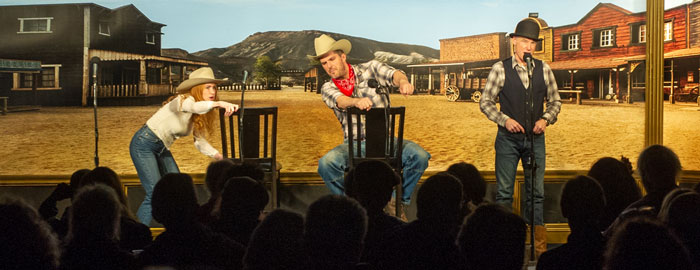"Over 120 guests attended the radio theatre production of ""Ride 'Em, Cowboy!"" by L. Ron Hubbard."