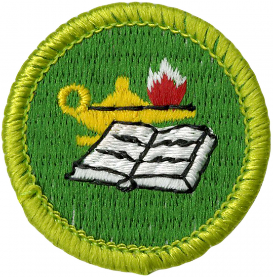 reading merit badge