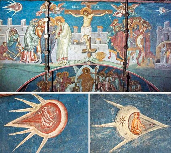 1350 fresco from the Visoki Decani Monastery in Kosovo, artist unknown