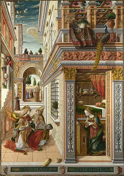 The Annunciation with Saint Emidius, 1486 by Carlo Crivelli
