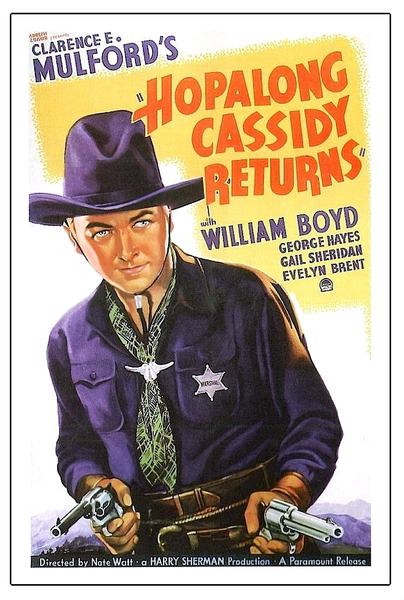 movie poster of Hopalong Cassidy Returns film